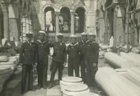 Military unit of the German navy at Agios Demetrios church. April 1941
